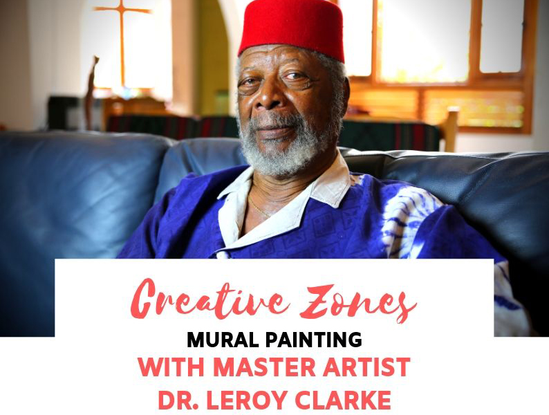 Mural Painting with Master Artist Dr. Leroy Clarke Image